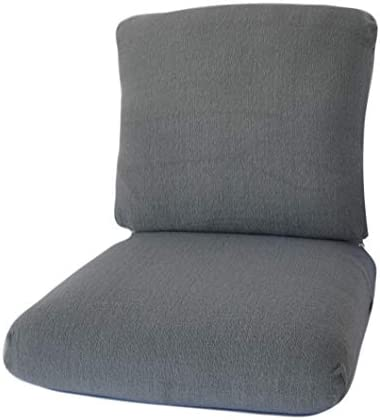 CushyChic Outdoors Terry Slipcovers for Deep Seat Patio Cushions, 2 Piece in Cool Medium Grey – Slipcovers ONLY – Cushion Insert NOT Included