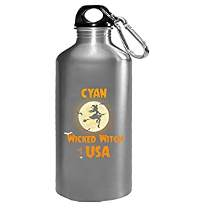 Cyan Wicked Witch Of Usa Halloween Gift - Water Bottle
