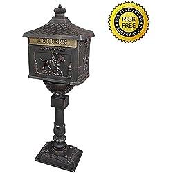 Polar Aurora Mailbox Cast Aluminum Bronze Mail Box Postal Box Security Heavy Duty New