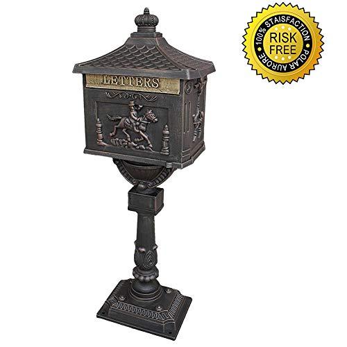 Polar Aurora Mailbox Cast Aluminum Bronze Mail Box Postal Box Security Heavy Duty New ()