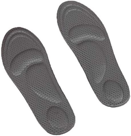 HXIDI Orthopädische Einlegesohlen 4D sponzige Massage Einlage Unterstützung Orthotic Shoe Inserts Plantar Fasciitis Inserts Super Support Schuh Inserts,Gray,Apair