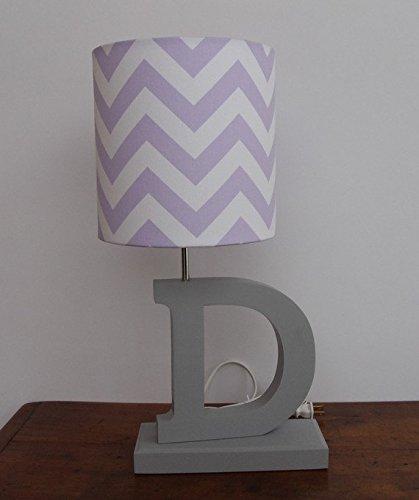Lilac/White Chevron Lamp Shade
