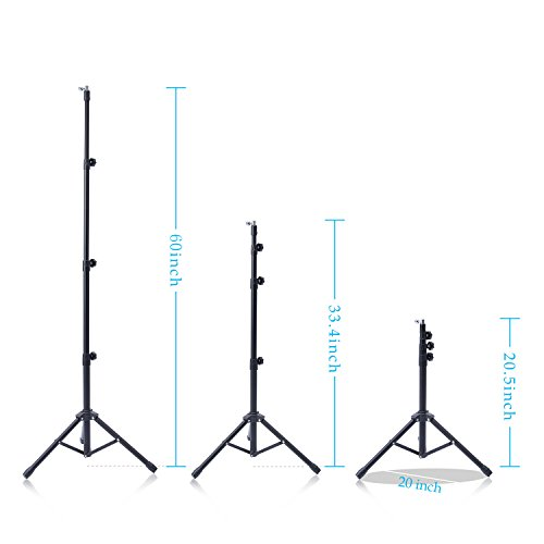 T-SIGN IPad Tripod Stand Mount, Reinforced Foldable Floor, Height Adjustable 360 Rotating for More 7 to 12 Inch Tablets, Carrying Case, Phone Holder, Bluetooth Remote Control
