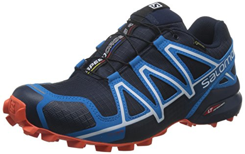 Salomon Men's Speedcross 4 Trail Running Shoes Blue (Navy Blazer/Cloisonné/Flame) YOpRfugKBN