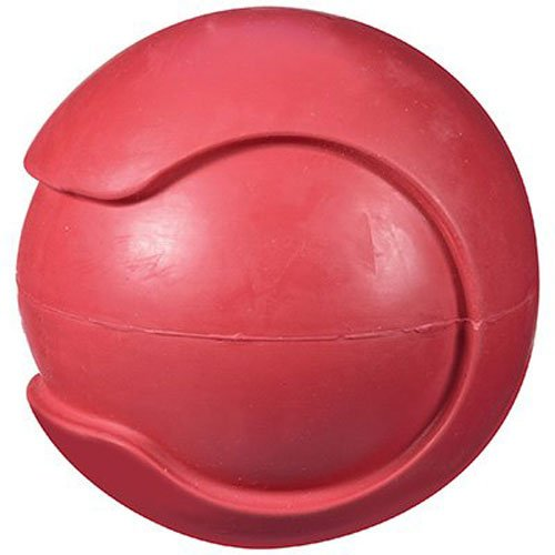 Jw Pet Rubber Balls - JW Pet Company iSqueak Bouncin' Baseball Dog Toy, Large (Colors Vary)