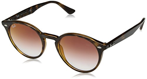 Ray-Ban RB2180 Round Sunglasses, Tortoise/Red Gradient Mirror, 51 ()