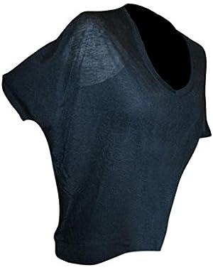 Bcbgmaxazria Bcbg Women's Slouch Short Sleeve Dolman Tee Tunic Solid Black