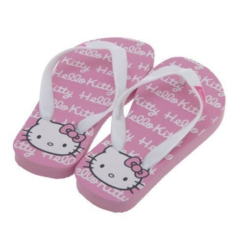 Hello Kitty - Tong Fille - 3 Designs - Ecriture avec rayures roses, Enfants  EUR 31-32: Amazon.fr: Chaussures et Sacs