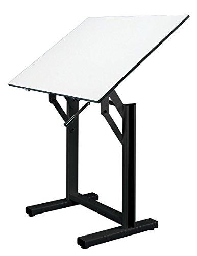 Alvin EN42-3 Ensign Table, Black Base White Top (31