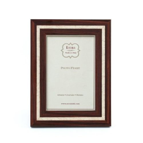 Eccolo Marquetry Photo Frame, Holds a 5 by 7-Inch Photo, Mother of Pearl, Dark Brown ()