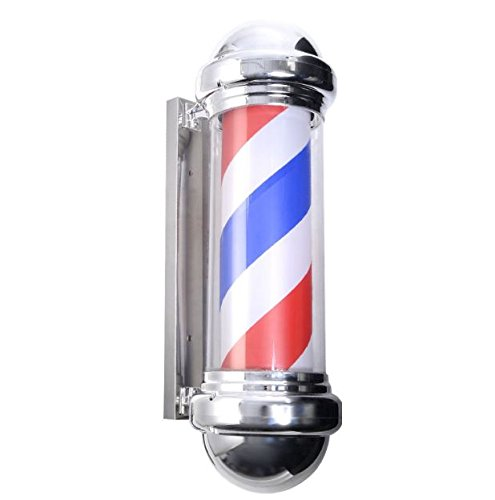 """New Metal 30"""" Classic Barber Shop Pole Light Red White Bl..."""