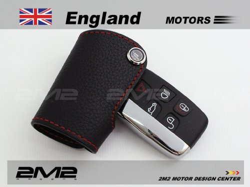 2M2 LLA04-4-A Leather key fob holder case chain cover For RANGE ROVER SPORT EVOQUE LR4 LR2 DISCOVERY DEFENER