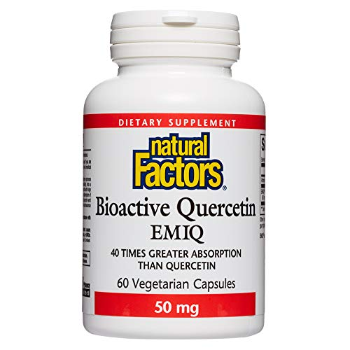 Natural Factors, Bioactive Quercetin EMIQ, All Year Support for Healthy Inflammatory Responses and Sinuses, 60 Capsules…
