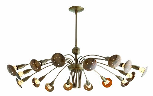 Valdez Arm - Arteriors Home 89666 Arteriors Valdez 16L Vintage Brass Adjustable Arm Chandelier, 47