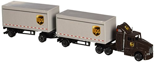 Diecast Tractor Trailer Trucks - Daron UPS Die Cast Tractor with 2 Trailers