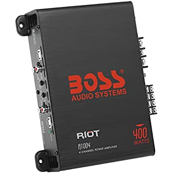 BOSS Audio R1004 - Riot - 400 Watt, 4 Channel, 2/4 Ohm Stable Class A/B, Full Range, MOSFET Car Amplifier