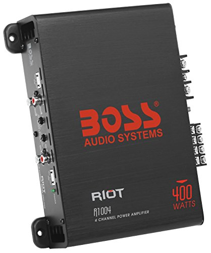 BOSS Audio R1004 Riot 400 Watt, 4 Channel, 2/4 Ohm Stable Class A/B, Full Range, MOSFET Car Amplifier