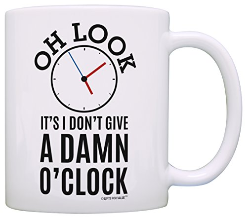 Retirement Gifts for Coworkers Oh Look Clock Expletive Retired Gag Gift Coffee Mug Tea Cup -
