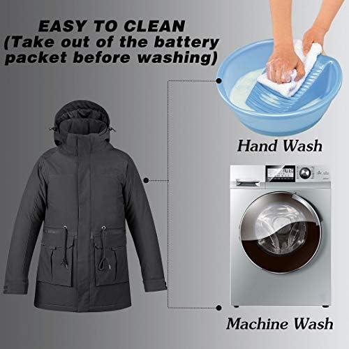 ZJHT Soft Shell Electric Heating Jacket, Lightweight Women's Heating Hoodie