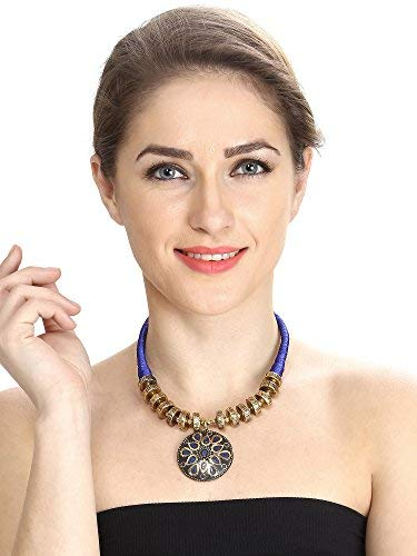 Aradhya Womens Elegant Casual Wear Nevy Blue Colour Beads Necklace