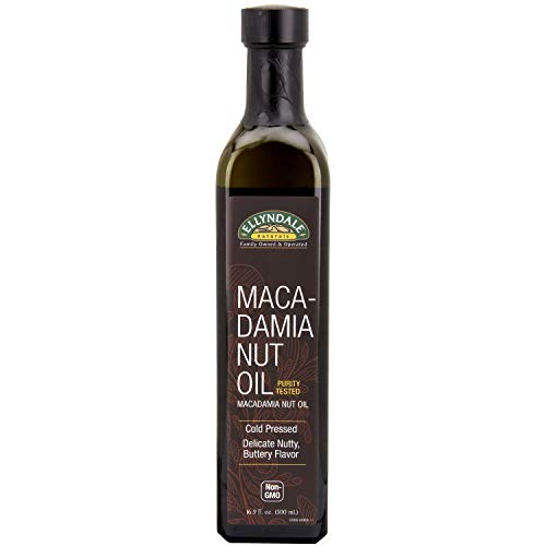 Macadamia Nut Brownies - NOW Foods, Macadamina Nut Cooking Oil in Glass Bottle, Purity Tested, Cold Pressed, Delicate Nutty, Buttery Flavor, 16.9-Ounce