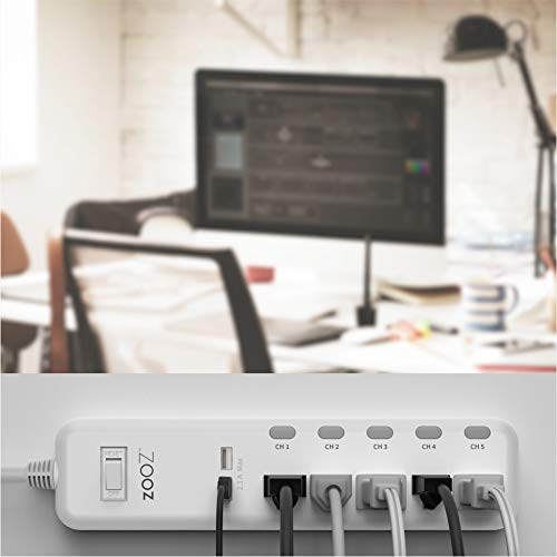 Zooz Z-Wave Plus S2 Power Strip ZEN20 VER. 2.0 with Energy Monitoring and 2 USB Ports, Works with Vera, Wink, SmartThings by ZOOZ (Image #5)