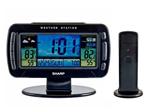 Ashton Sutton Sharp SPC595 Atomic Table Clock and Weather...