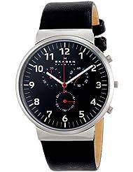 Skagen Men's SKW6100 Ancher Black Leather Watch