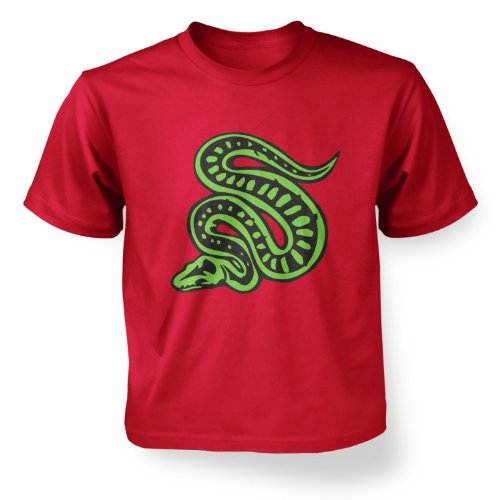 Scaly Snakes (Scaly Snake Kids T-shirt - Red XS (3-4))