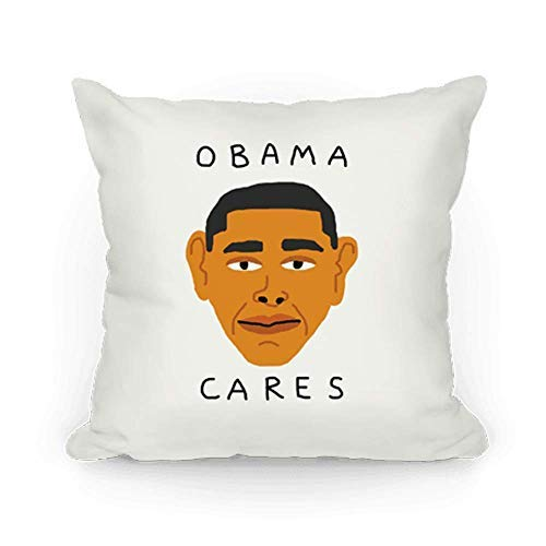 alerie Sassoon Obama Cares Throw Pillowcase, OPAMA Pillowcase, Barack -