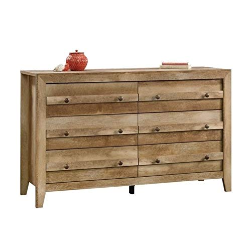 Sauder Dakota Pass 6-Drawer Dresser, L: 57.24'' x W: 17.52'' x H: 34.61'', Craftsman Oak finish by Sauder