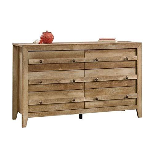 Sauder Dakota Pass 6-Drawer Dresser, Craftsman Oak finish (Of Mirror Chest Draws)