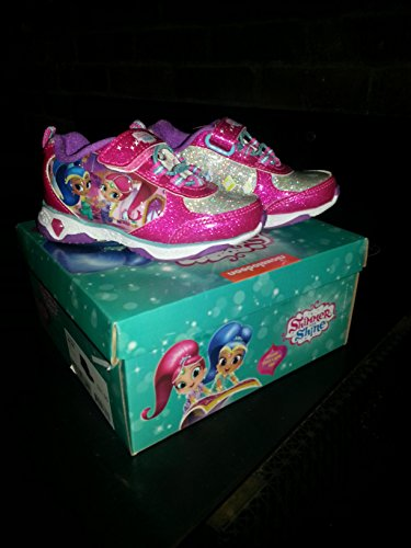 Shimmer and Shine Light-Up Sneakers Shoes Girl's & Toddler's Sizes (Toddler's (Shoe Shine Equipment)