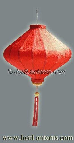Vietnamese Silk Lantern- Large Diamond (RICH RED)