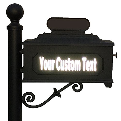 Reflective 3 Inch Number (customTAYLOR33 High Intensity Grade Reflective Custom Mailbox Letters Numbers - Houses, Apartments, Condos, Businesses (3 inch font height, 1 row of text))