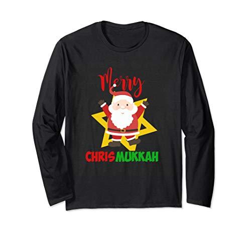 Merry ChrisMukkah Funny Hanukkah Christmas T-Shirt (Ls Christmas Merry Land)