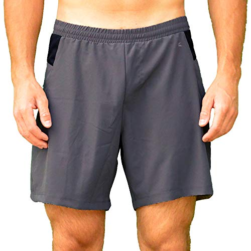 Colosseum Mens Stretch Woven 7 Inch Shorts Smoked Pearl - S ()