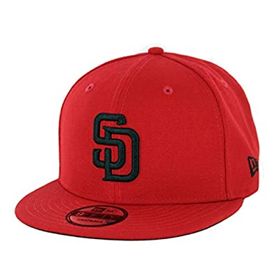 New Era 9Fifty San Diego Padres RD BK Snapback Hat (Red) Men's MLB Cap