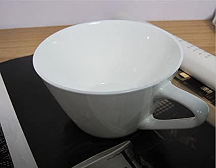 WJIANLL Desayuno taza blanco leche vaso de jugo de taza de avena arrollada taza, 12.2