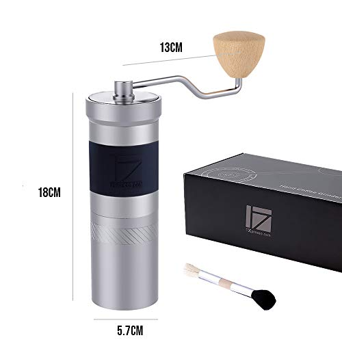 1Zpresso JX-PRO Manual Coffee Grinder Light Gray Capacity 35g with Assembly Stainless Steel Conical Burr – Numernal…