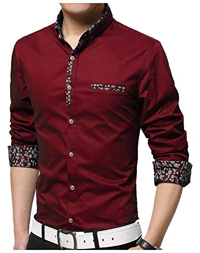 IndoPrimo Men's Cotton Casual Fancy Shirt Full Sleeves