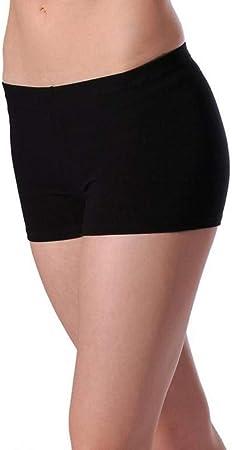 pantalón corto negro mujer licra