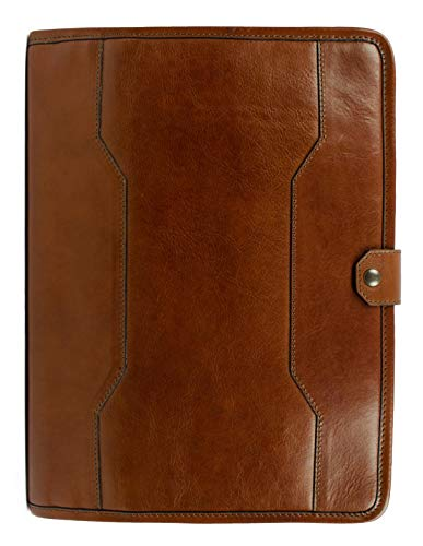Time Resistance Full Grain Leather Document Holder 13 in Laptop Organizer Brown