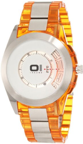 01TheOne Men's AN08G07 Spinning Wheel Classic Analog with Enamel Bezel Watch