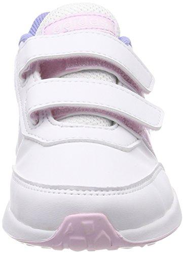 adidas Vs Switch 2 CMF C, Zapatillas de Gimnasia Unisex Niños Blanco (Ftwbla / Aerorr / Purtiz 000)