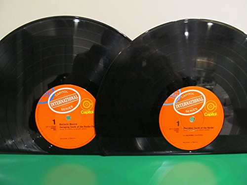 Vinyl Record Bookends LP Mismatched Artists, Mariachi Mexico & Marimbas South of the Border on Capitol International (Artist Marimba)