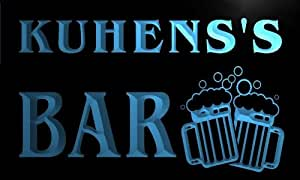 w101889-b KUHENS Name Home Bar Pub Beer Mugs Cheers Neon Light Sign