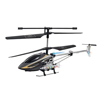 "Radio Road Toys 12"" 3.5CH RC Helicopter - Black"