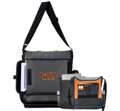 Iona Impact Vertical Black Computer Messenger Bag 'Official Logo' by CollegeFanGear