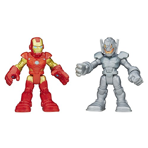 Playskool Heroes Marvel Super Hero Adventures Iron Man and Ultron Figures